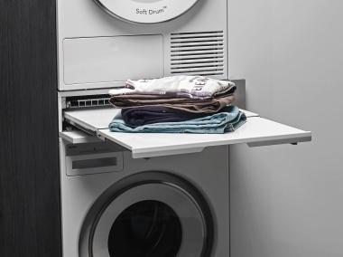 超便利衣物篮和可推拉搁板,洗衣生活更轻松